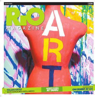 Copertina del magazine Rio Art del 3 marzo 2013