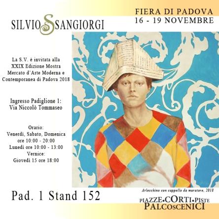 Silvio Sangiorgi Invito fiera Arte Padova 2018