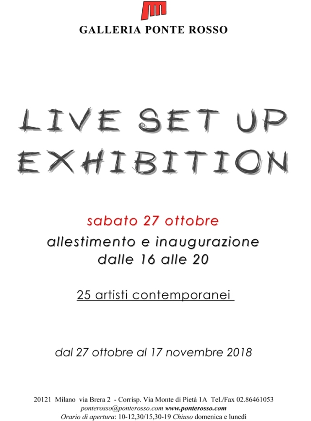 Silvio Sangiorgi Invito Live Set Up Exhibit