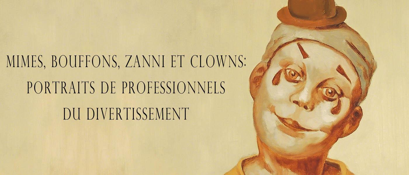 Immagine in primo piano della galleria di ritratti di clown