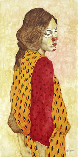 Foto del disegno intitolato Distratta