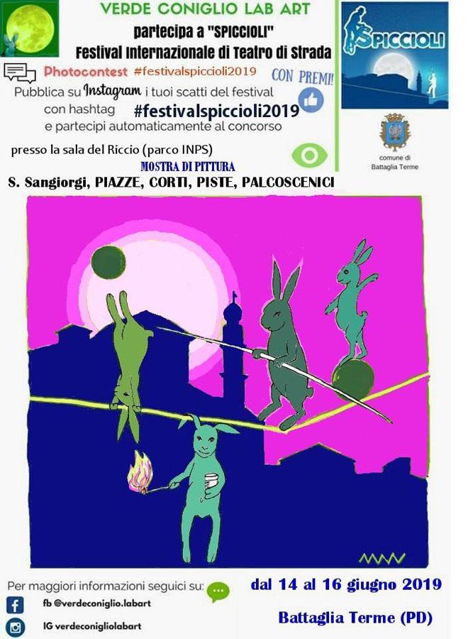 Locandina mostra di Silvio Sangiorgi, Battaglia Terme 2019