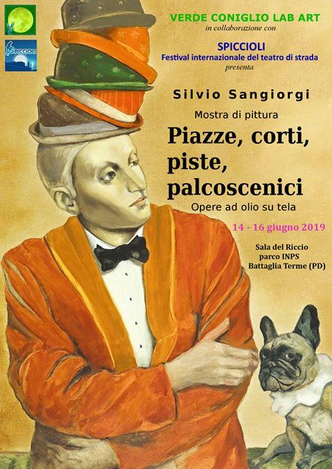 Silvio Sangiorgi - Locandina Mostra di Pittura a Battaglia Terme