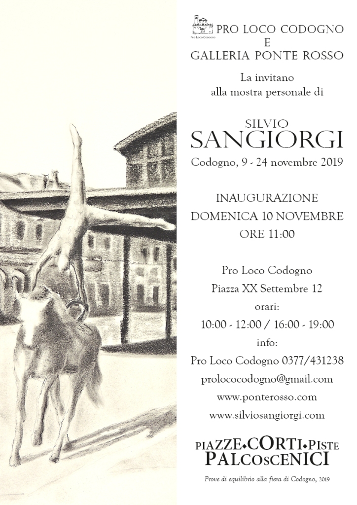 Invito mostra personale di Silvio Sangiorgi a Codogno (LO)