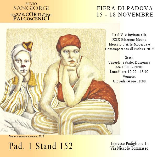 Invito Silvio Sangiorgi alla Fiera Arte Padova 2019