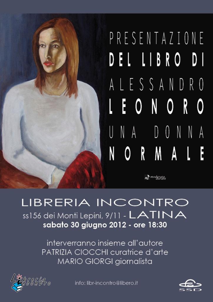 Presentazione racconto Una donna normale di Alessandro Leonoro
