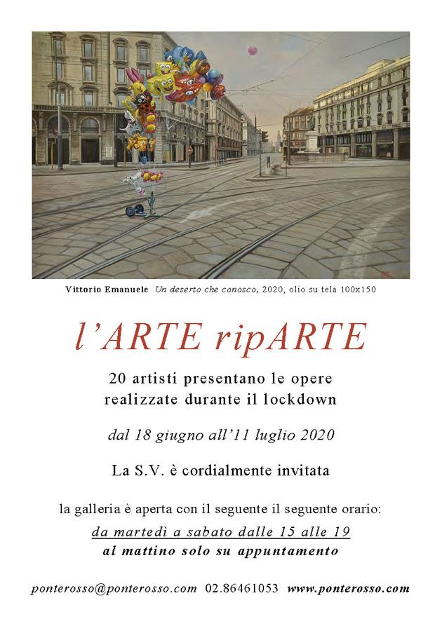 Invito mostra collettiva l'arte riparte Galleria Ponte Rosso