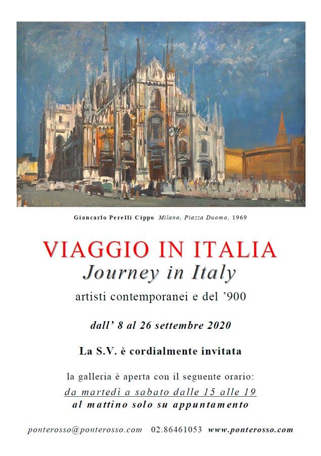 Locandina mostra Viaggio in Italia, Galleria Ponte Rosso