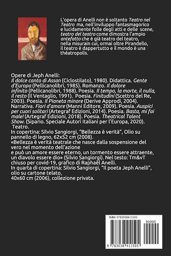 Quarta di copertina: Il teatro del teatro a Théatropólis di Jeph Anelli